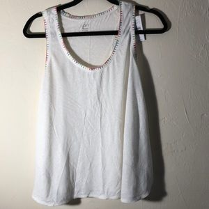 NWT colorful stitch trim swing tank